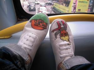 diy pintar zapatillas