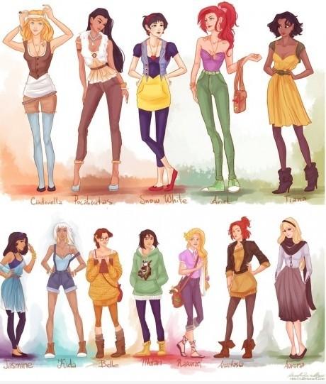 princesas-disney-hipster-modernas