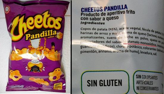 cheetos pandilla con glutamato monosodico snack