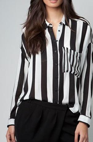 camisa rayas blanca y negra