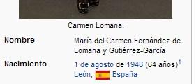 carmen lomana wikipedia edad