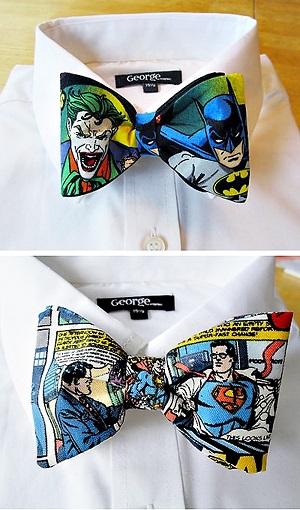 bow tie superman batman pajarita