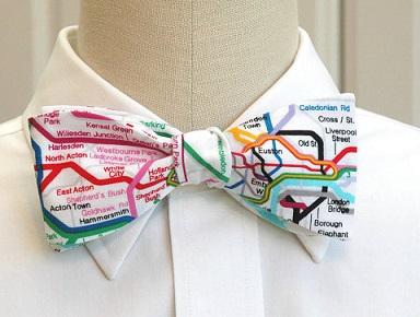 london tube bow tie metro londres pajarita