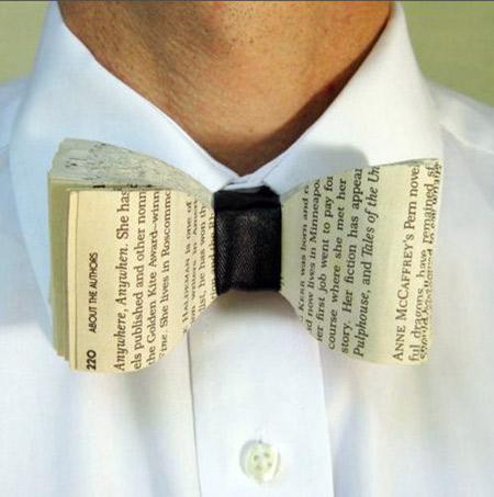 pajarita libro book bow tie