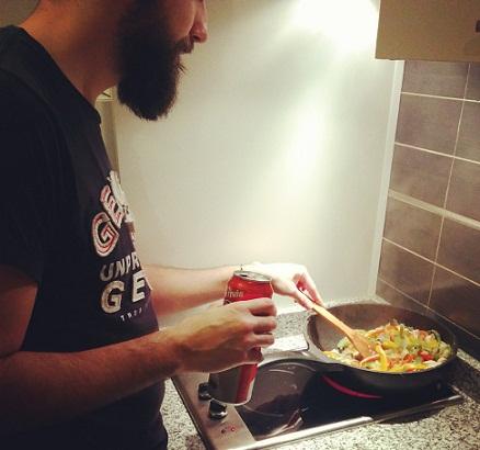 receta wok pollo y setas