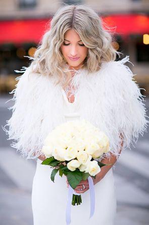 novia-chaqueta-plumas-invierno